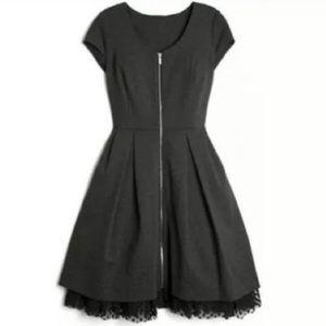 Kirna Zabete Slate Gray Front Zip Dress
